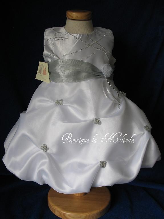 robe bapteme ceremonie blanc argente emilie boutique. Black Bedroom Furniture Sets. Home Design Ideas